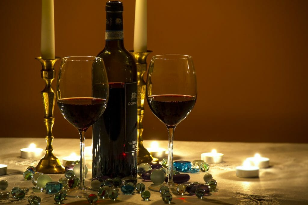cena romántica en casa